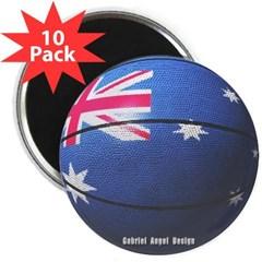 """Australian Basketball 2.25"""" Magnet (10 pack)"""