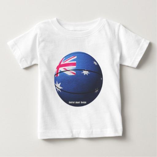Australian Basketball Baby Fine Jersey T-Shirt