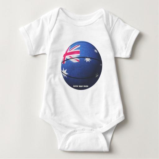 Australian Basketball Baby Jersey Bodysuit