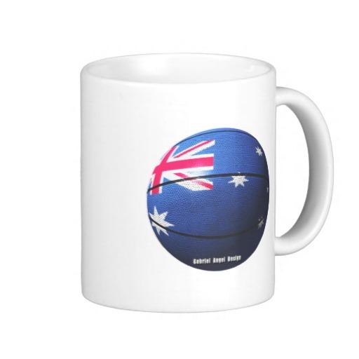 Australian Basketball Classic White Mug