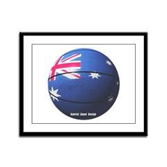 Australian Basketball Framed Panel Print