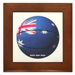 Australian Basketball Framed Tile