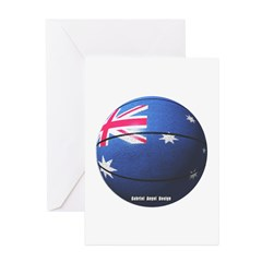Australian Basketball Greeting Cards (Pk of 10