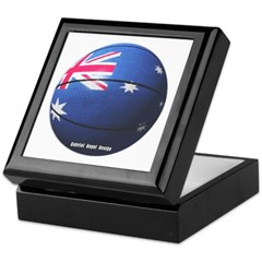 Australian Basketball Keepsake Box
