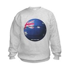 Australian Basketball Kids Crewneck Sweatshirt by Hanes