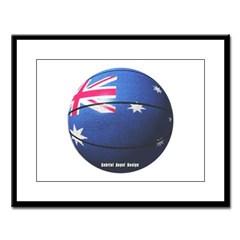 Australian Basketball Large Framed Print