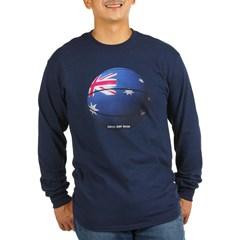 Australian Basketball Long Sleeve Dark T-Shirt