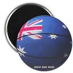 Australian Basketball Magnet