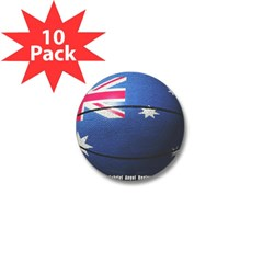 Australian Basketball Mini Button (10 pack)