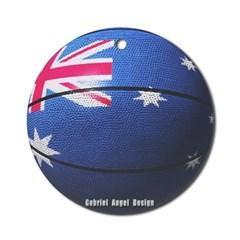 Australian Basketball Ornament (Round)