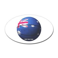 Australian Basketball Oval Decal