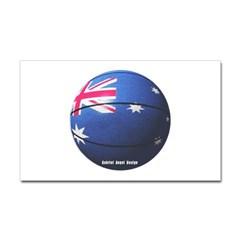 Australian Basketball Rectangle Decal