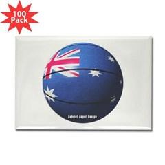 Australian Basketball Rectangle Magnet (100 pack)