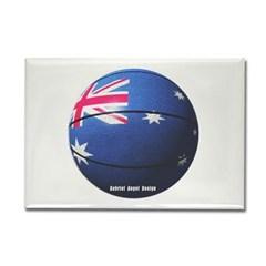 Australian Basketball Rectangle Magnet