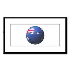 Australian Basketball Small Framed Print