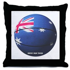 Australian Basketball Throw Pillow