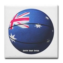 Australian Basketball Tile Coaster