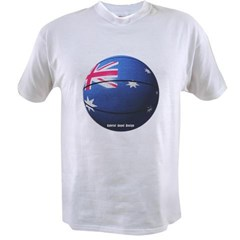Australian Basketball Value T-shirt