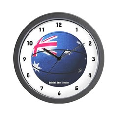 Australian Basketball Wall Clock