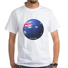 Australian Basketball White T-Shirt