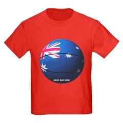 Australian Basketball Youth Dark T-Shirt by Hanes