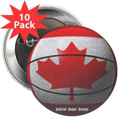 "Canada Basketball 2.25"" Button (10 pack)"