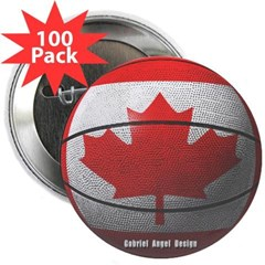 "Canada Basketball 2.25"" Button (100 pack)"