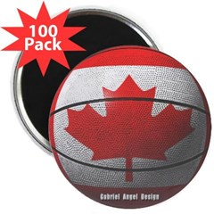 """Canada Basketball 2.25"""" Magnet (100 pack)"""