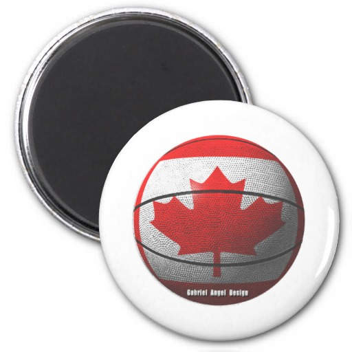 Canada Basketball 2 Inch Round Magnet