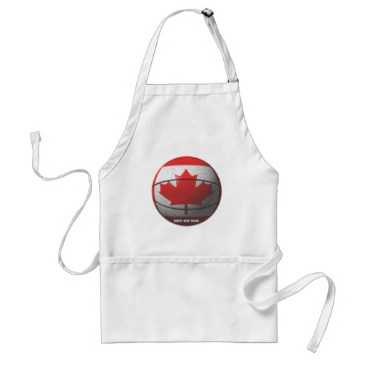 Canada Basketball Adult Apron
