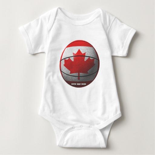 Canada Basketball Baby Jersey Bodysuit