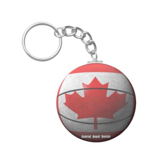 Canada Basketball Basic Button Keychain