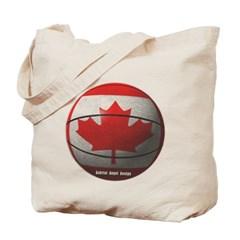 Canada Basketball Canvas Tote Bag