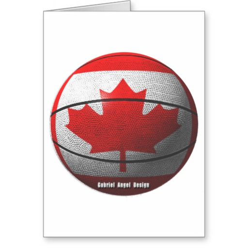 Canada Basketball Greeting Card