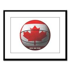 Canada Basketball Large Framed Print