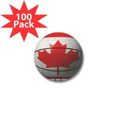 Canada Basketball Mini Button (100 pack)