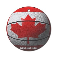 Canada Basketball Ornament (Round)