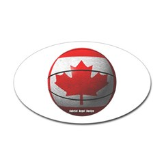 Canada Basketball Oval Decal