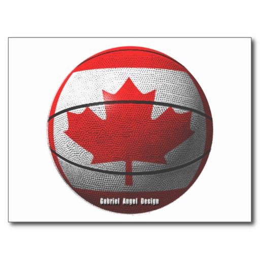 Canada Basketball Postcard