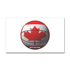 Canada Basketball Rectangle Decal