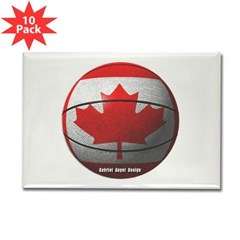 Canada Basketball Rectangle Magnet (10 pack)