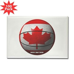 Canada Basketball Rectangle Magnet (100 pack)