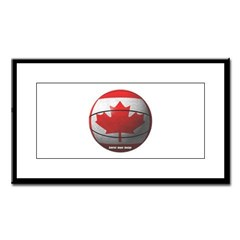 Canada Basketball Small Framed Print