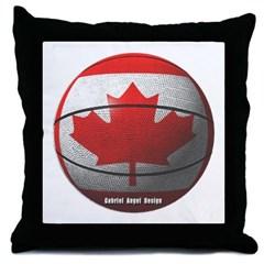 Canada Basketball Throw Pillow