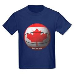 Canada Basketball Youth Dark T-Shirt by Hanes