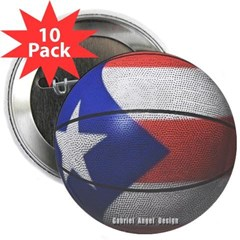 "Puerto Rican Basketball 2.25"" Button (10 pack)"