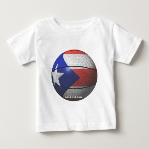 Puerto Rican Basketball Baby Fine Jersey T-Shirt
