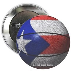 Puerto Rican Basketball Button
