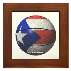 Puerto Rican Basketball Framed Tile