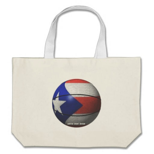 Puerto Rican Basketball Jumbo Tote